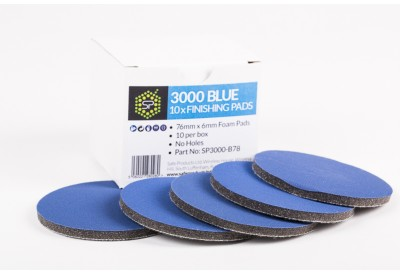 SP3000 Blue Finishing Pads 76mm